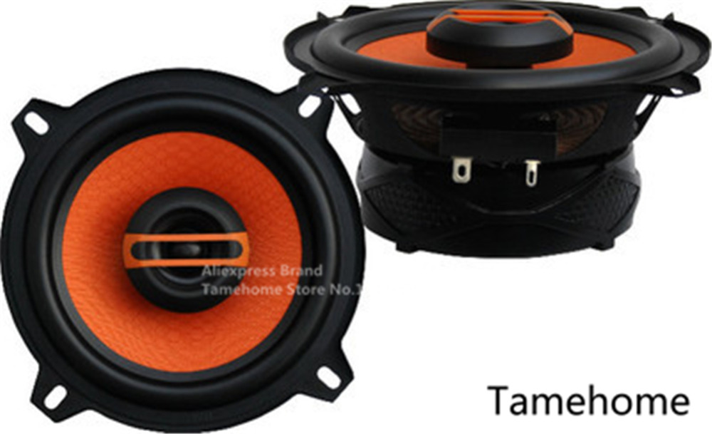 Orangered 1 Pair Of 4 Inch Heavy Coaxial Car Speakers