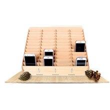 שולחן עבודה נייד כלי תיבת אחסון טלפון תיקון ניהול אחסון תיבת עבור משרד בית ספר משטחי עץ כלים Boxs