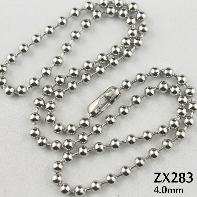 chains amazon uk inch co dp stainless beads ball steel necklace