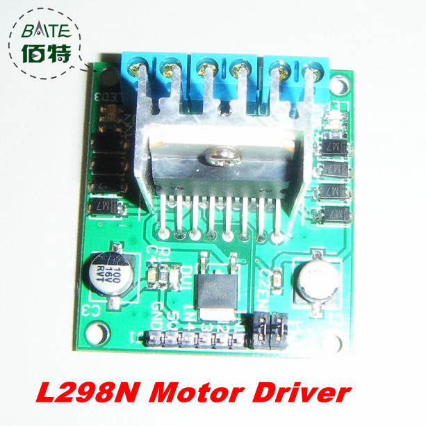 Wholesale 5pcs/ lot L298 Module L298N Dual Bridge DC stepper Controller Control Motor Driver module Board