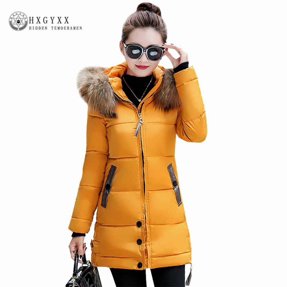 2017 new fashion winter jacket women slim long cotton-padded big fur collar Hooded warm parka female wadded outerwear ok446 lstu winter jacket women 2017 fashion cotton padded hooded jacket female wadded jacket outerwear winter coat women