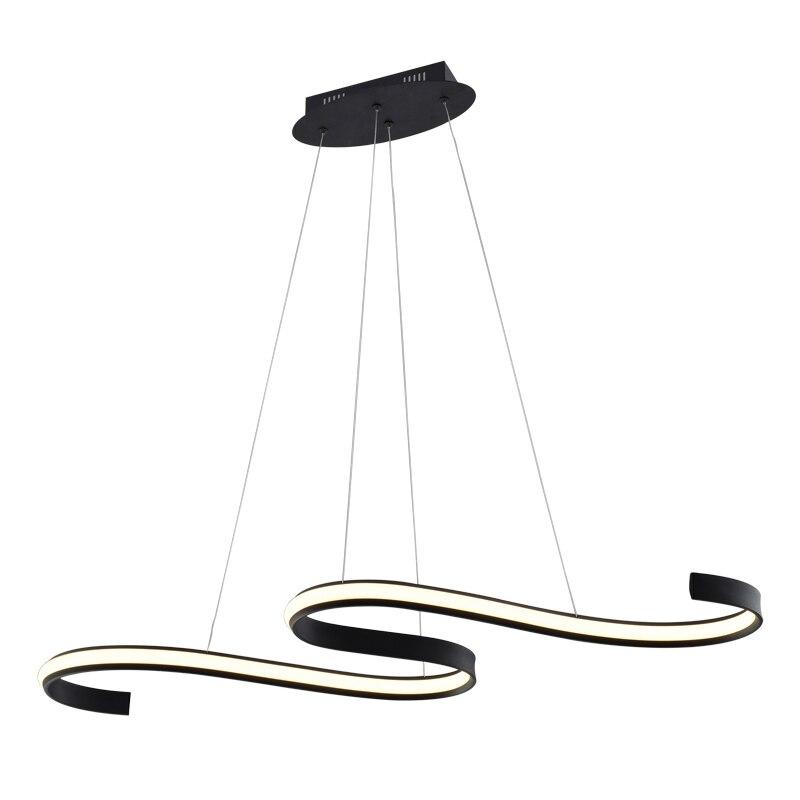 Современные светодиодный Люстра Творческий Дизайн черные туфли высокого качества лампы для тела Гостиная Спальня висит AC110-240V Крытый присп...