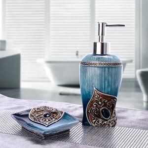Image 1 - 2Pcs/set ExquisiteLiquid Soap Dispenser Soap Box Hand Sanitizer Container Lotion Shampoo Bottle Soap Dish Bathroom Accessories