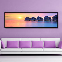 DiamondEmbroidery,China,landscape,scenery,Sunset sea view, 5D Diamond Painting, Cross Stitch, Mosaic, Decoration