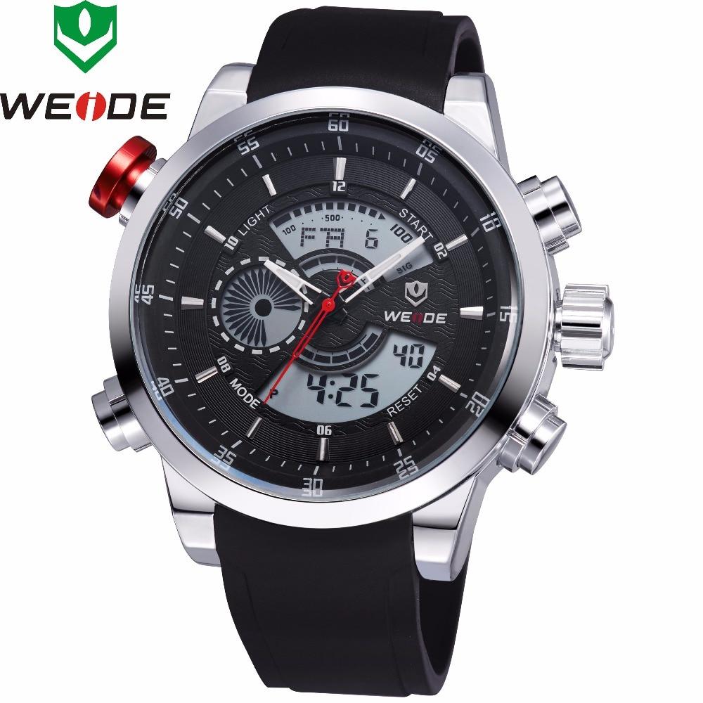 2018 New Luxury Brand WEIDE Men's Quartz Digital Led Watches Men Casual Sports Clock Military Wrist watches Relogio Masculino все цены