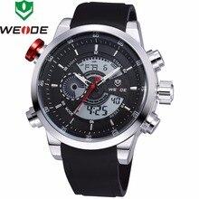 2018 חדש יוקרה מותג WEIDE גברים של קוורץ הדיגיטלי Led שעונים גברים מקרית ספורט שעון צבאי יד שעונים Relogio Masculino