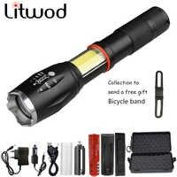 Z30 1005A multifonction lampe de poche LED lanterne 8000LM CREE XM-L2 U3 torche cachée COB conception lampe de poche queue super aimant conception