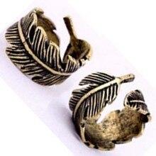17mm Opening Hot On sale Vintage Unisex European Style Retro Bronze Leaf Ring free shipping