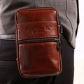 Cover Case Belt Bag Leather Hip Purse Men Cell/Mobile Fanny Waist Phone Pack Bum