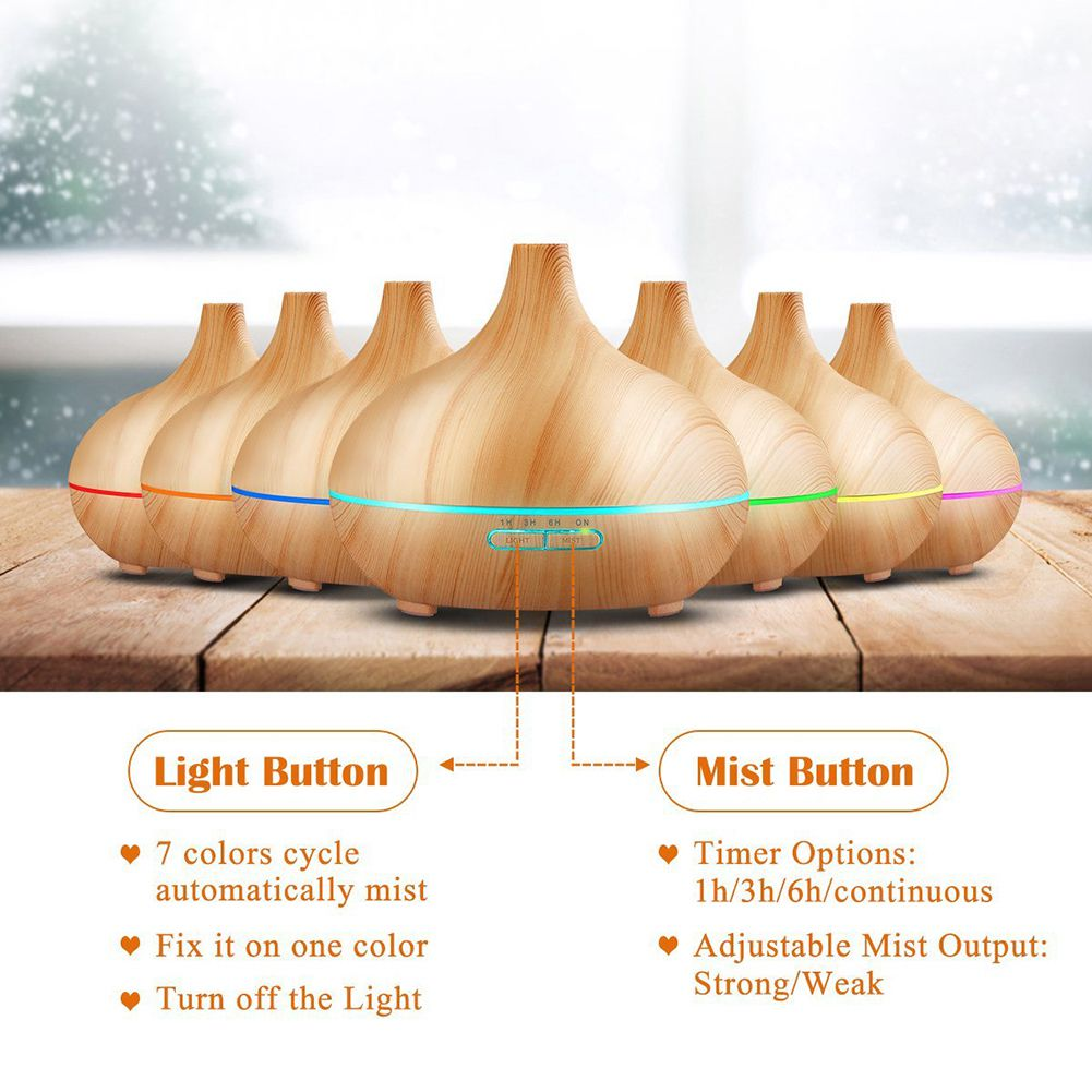 300ml Air Humidifier ESSential Oil Diffuser Aroma Lamp Aromatherapy Electric Aroma Diffuser Mist Maker for Home office Bedroom deep woodgrain humidifier essential oil diffuser aroma lamp aromatherapy electric aroma diffuser mist maker for home