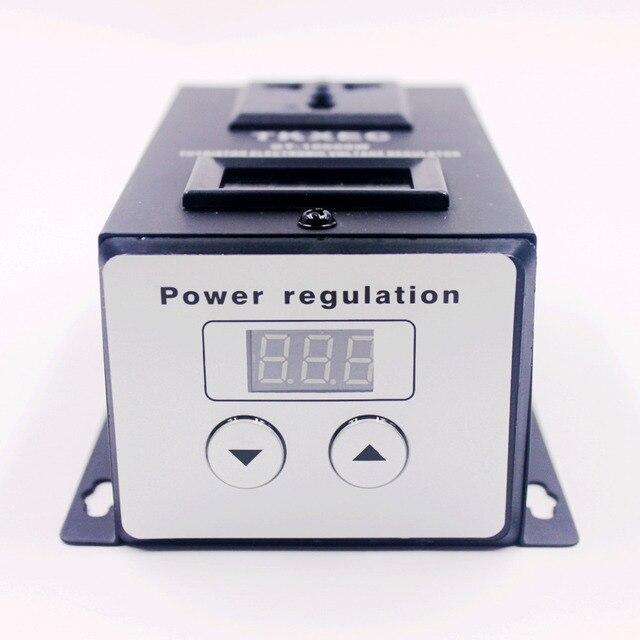 Ac 220 v 10000 w scr 전자 전압 레귤레이터 전동 공구 팬 모터 속도 컨트롤러 ajustable