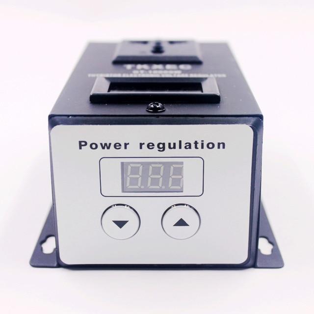 Regulador de voltagem eletrônico, regulador de tensão ac 220v 10000w scr ferramentas elétricas do motor do ventilador controlador de velocidade ajustável