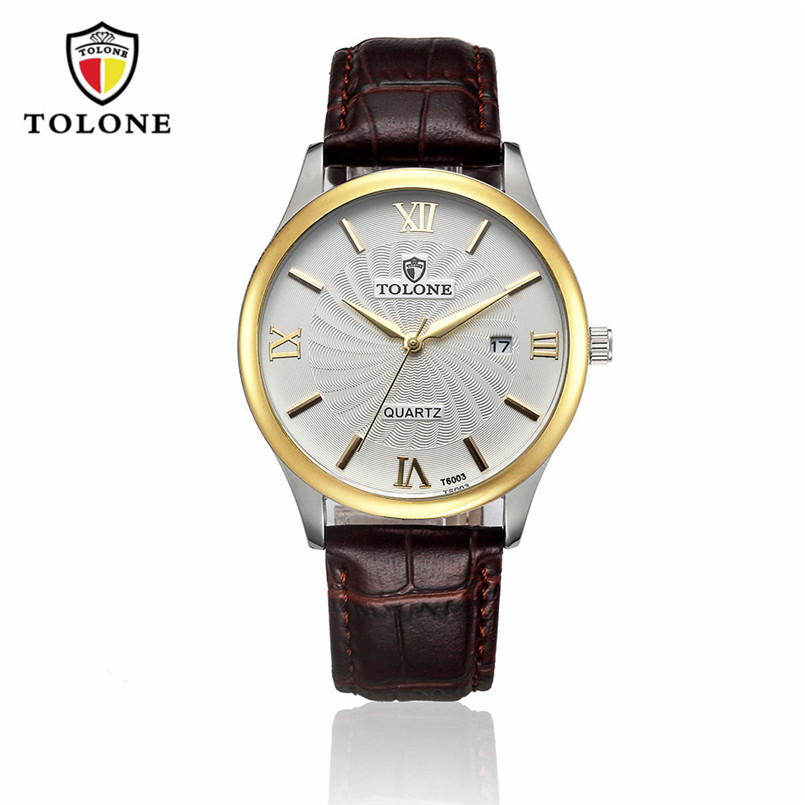 Luxury Men's Date Watch Brand Men Sport Military Stainless Steel Leather Analog Quartz Watch 2017 Male Hour Relogio Masculino wristwatch new famous brand binger geneva casual quartz watch men stainless steel dress watches relogio feminino man clock hot