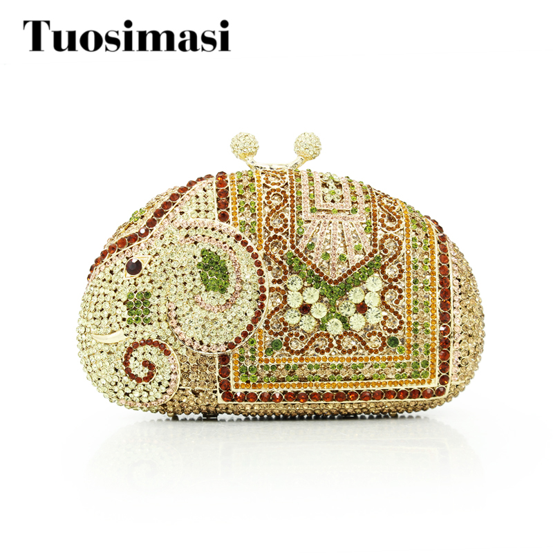 Stone Crystal Bag Wedding Clutch Bag Designer Elephant Women Handbag rhinestone Clutch Evening Bag Female Party Purse (8629A-YE) цена 2017
