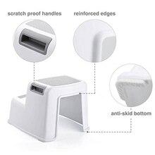Wide+2 Step Stool For Kids Toddler Stool For Toilet Potty Training Slip Resistant Soft Grip For Safe As Bathroom Potty Stool A цены онлайн