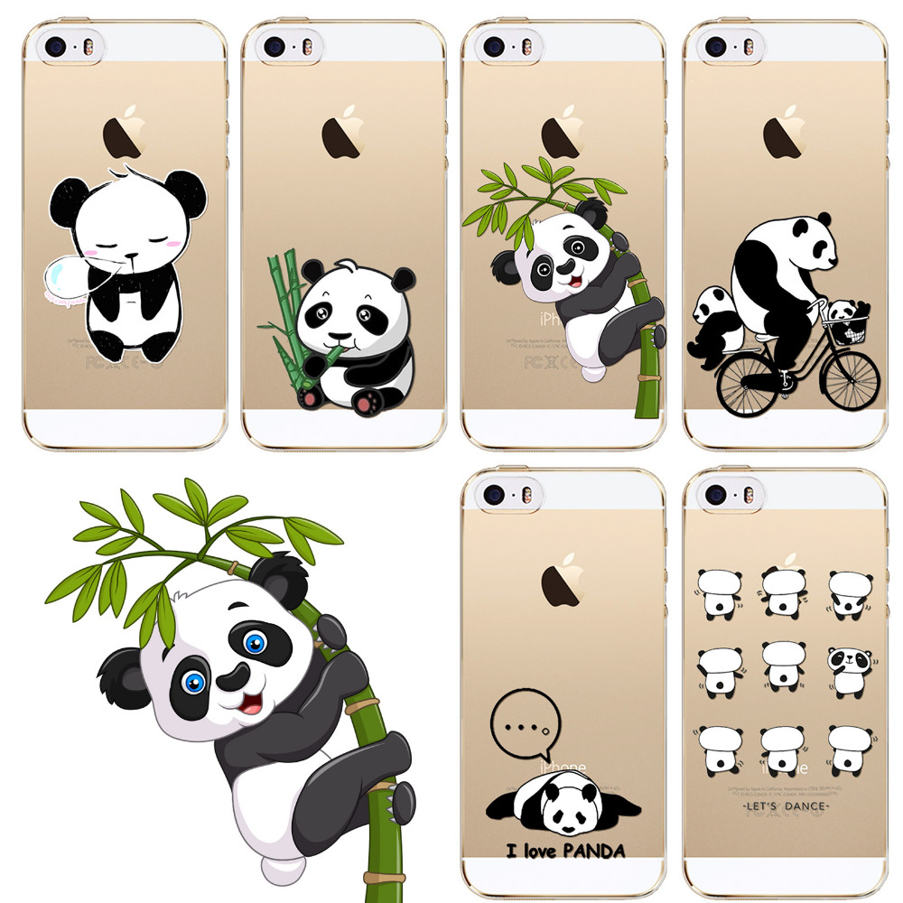 Cell Phone Cases For iPhone 5 5s SE Cute Panda Animation
