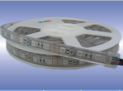 DC24V 5m(one roll) 5050 SMD 60LEDs/m led strip,waterproof by silicon tubing