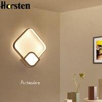 الحديثة الحد الأدنى الجدار مصباح 18 واط وحدة إضاءة LED جداريّة ضوء أباجورة الشمال بسيطة الجدار الشمعدان لغرفة المعيشة الدرج مطعم بار-في مصابيح الجدار الداخلي LED من مصابيح وإضاءات على