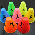 free shipping roller skating cone anit-wind 5 colors 20pcs/lot human-figure hole