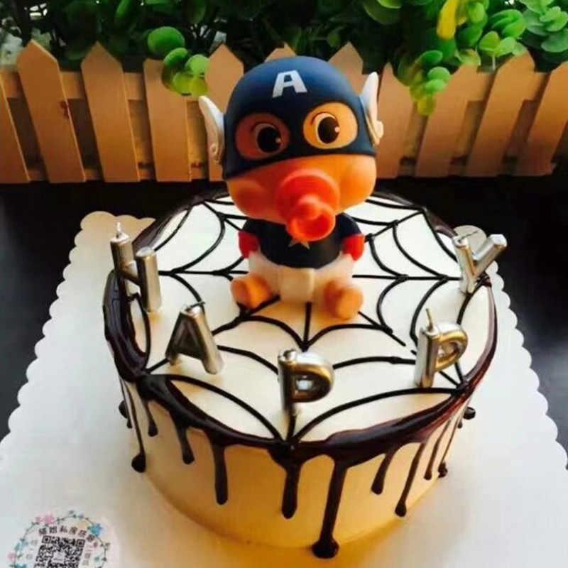Brilliant First Birthday Boy Party Captain America Cake Topper Avengers Toys Funny Birthday Cards Online Necthendildamsfinfo