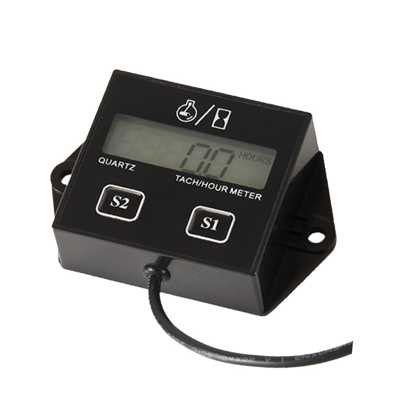 Free Shipping Digital Resettable Tach Hour Meter Record RPM Tachometer Counter Meter Used For Gasoline Engine