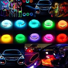 Новинка, светящийся светодиодный неоновый кабель для рождественской танцевальной вечеринки, самодельные костюмы, светящийся автомобильный светильник, декоративная одежда, шар, Rave