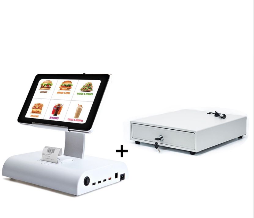10 Inch Dual Touch Screen Monitor Windows 10 POS System For Restaurant