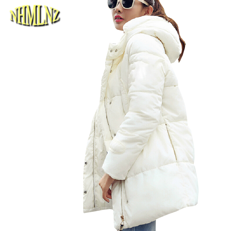 European Winter New Fashion Women Cotton Coat Thickening Hooded Super Warm Coats Women Slim Loose Big yards Down jacket G1983 стоимость