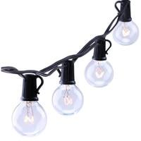 10m 20pcs G40 Clear Bulbs String Light Indoor Outdoor Use Patio Garden Party Xmas Decor