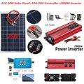 30 Вт комплект солнечных батарей 12 В солнечная панель с контроллером 12 В 24 В инвертор полугибкая солнечная батарея для автомобиля лодка авар...