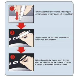 Image 5 - Rotuladores masilla pintura corporal, rotuladores permanentes resistentes al agua aptos para neumáticos de coche motocicleta, rodadura de goma, Metal, Caneta Risco Carro