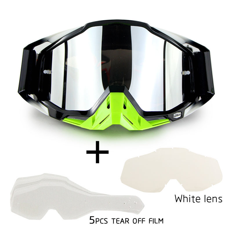 Gafas Motocross Goggles Glasses MX Off Road Dirt Bike Motorcycle Helmets Goggles Ski Sport Glasses Masque Moto Glasses Set(China)