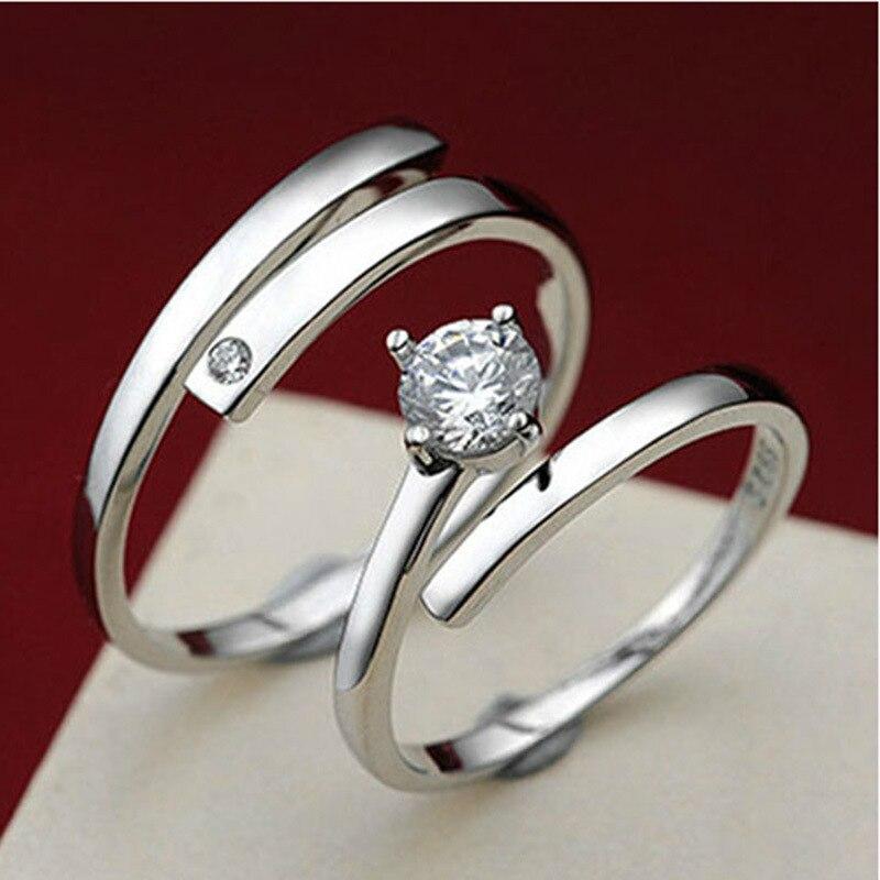 Aliexpresscom Buy 2016 Adjustable Wedding Rings 925 Sterling