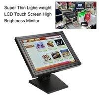 ЕС plug 17 дюймов светодиодный LED мониторы POS с технологией TFT, ЖКД, сенсорной панелью 1024X768 розничная продажа Ресторан Бар сенсорный дисплей USB