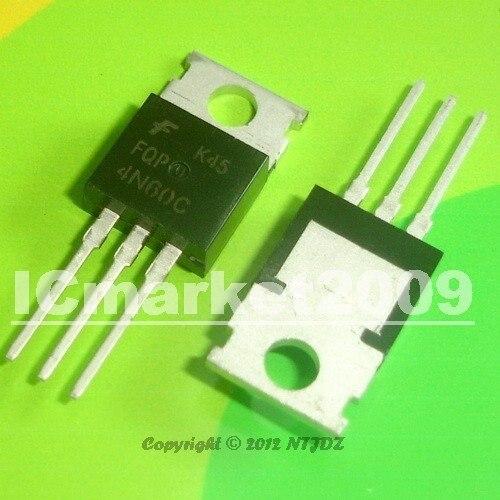 100 PCS FQP4N60C TO-220 FQP4N60 4N60C
