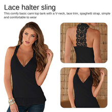 Ladies  Fashion Summer Women Top Female Halter Neck Strapless Sexy Backless Lace Stitching Vest Plus Size