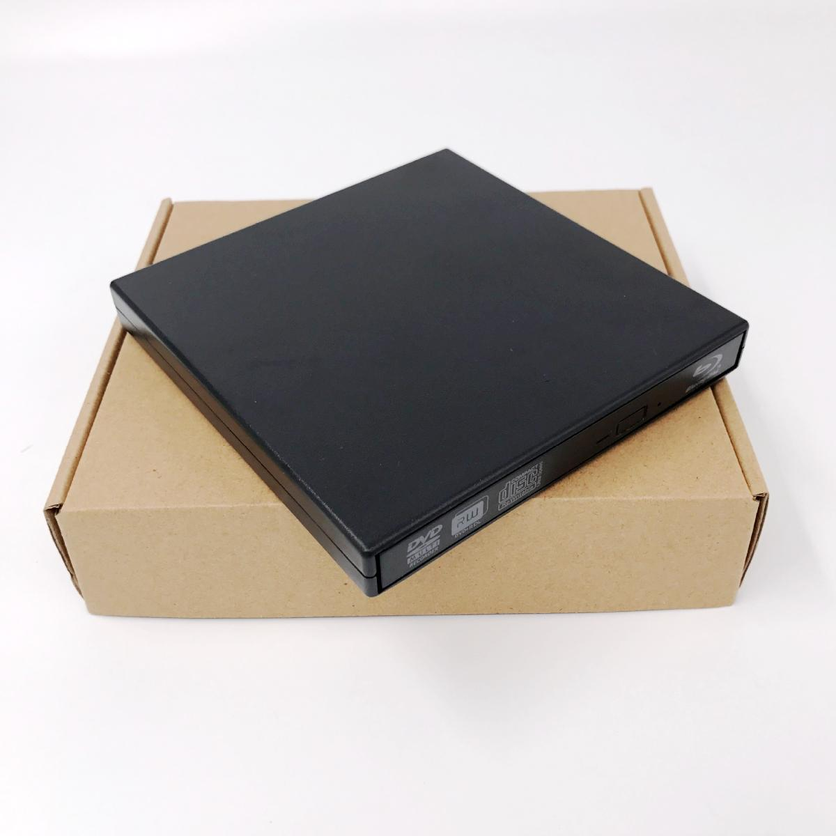 Black slim USB 2.0 External BD Blu Ray DVD RW DVD DL CD RW Drive Writer Burner For WINDOWS XP/7/8/10 Mac Desktop Laptop usb ide laptop notebook cd dvd rw burner rom drive external case enclosure no17