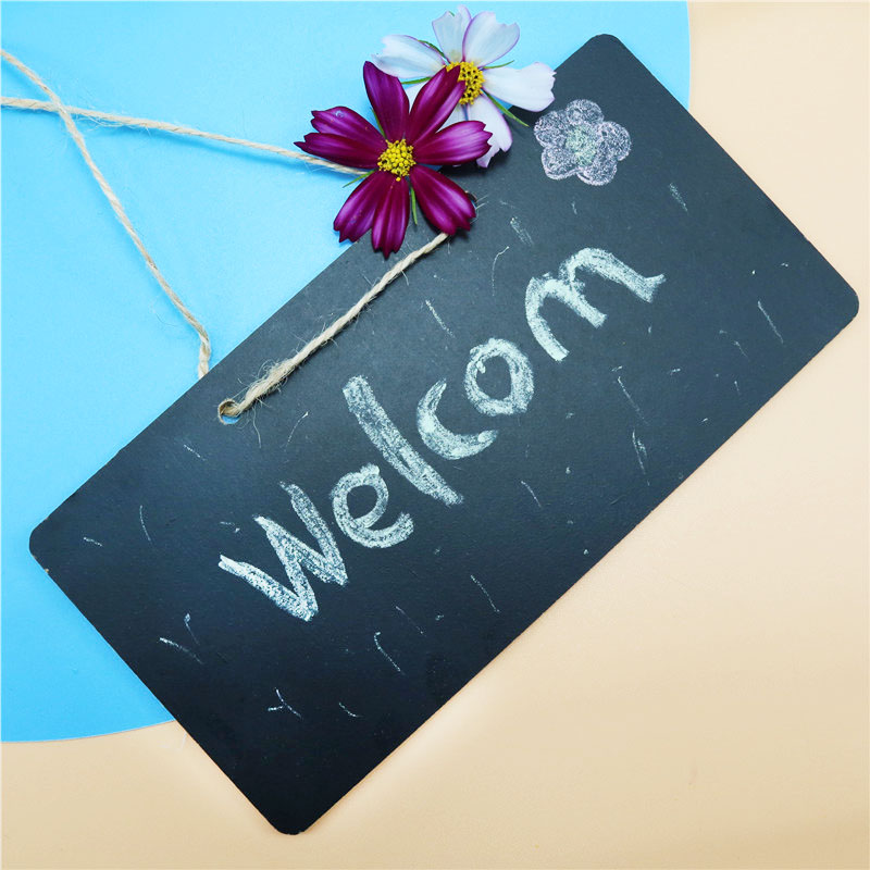 1 Pcs Mini Wooden Chalk Blackboard Party Decoration Message Board Wedding Kitchen Restaurant Logo Blackboard Children's Toys