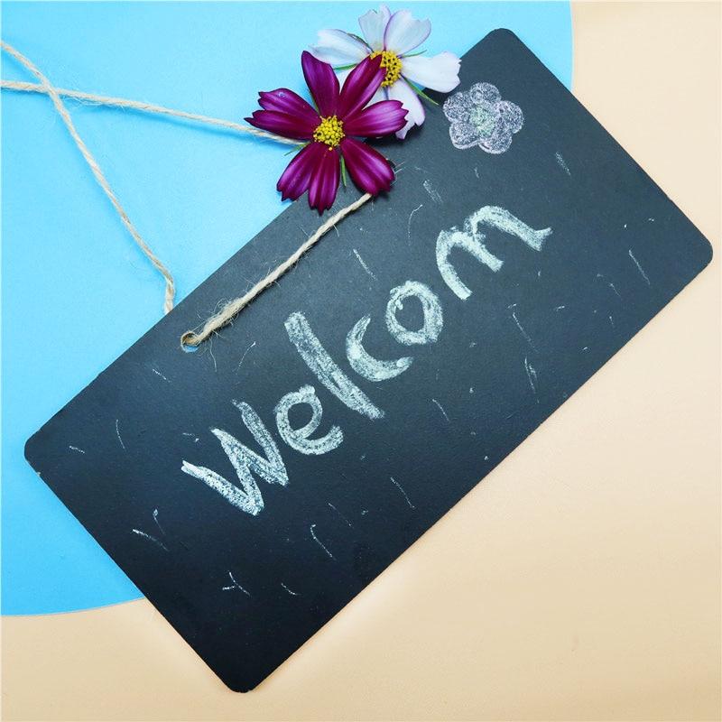 1 Pcs Mini Wooden Chalk Blackboard Party Decoration Message Board Wedding Kitchen Restaurant Logo Blackboard Children's Toys