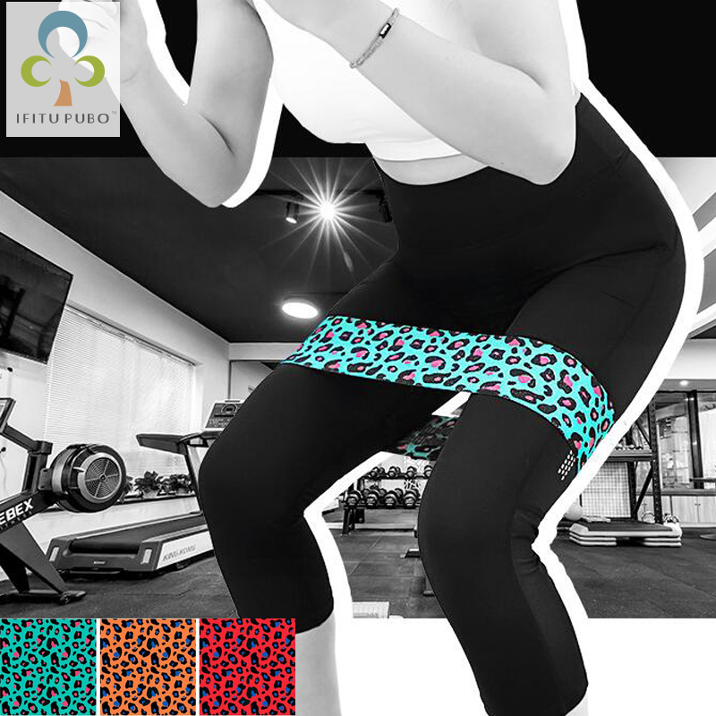 1Pc Booty Band Sexy Leopard Hip Circle Loop Resistance Band Workout Exercise for Legs Thigh Glute Butt Squat Bands Non-slip GYH