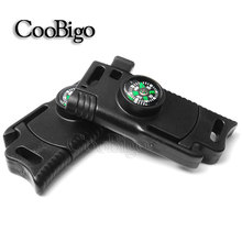 """10pcs 1/2"""" Compass Whistle Buckle Emergency Survival Paracord Bracelet Camp Outdoor Backpack Kits 12mm"""