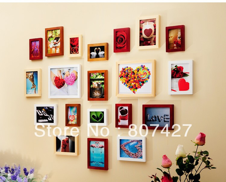 soild wood frame wall wall frame 20 pieces set house home wall decorate tb112