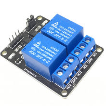 Módulo de relé de placa de expansão de relé de 2 canais canal Novo 5 V baixo nível desencadeada módulo de relé 2-way para arduino