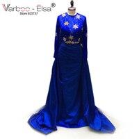 Vestidos De Fiesta Largos Elegantes 3D Floral Bead Appliques A Line Floor Length Long Dresses Evening