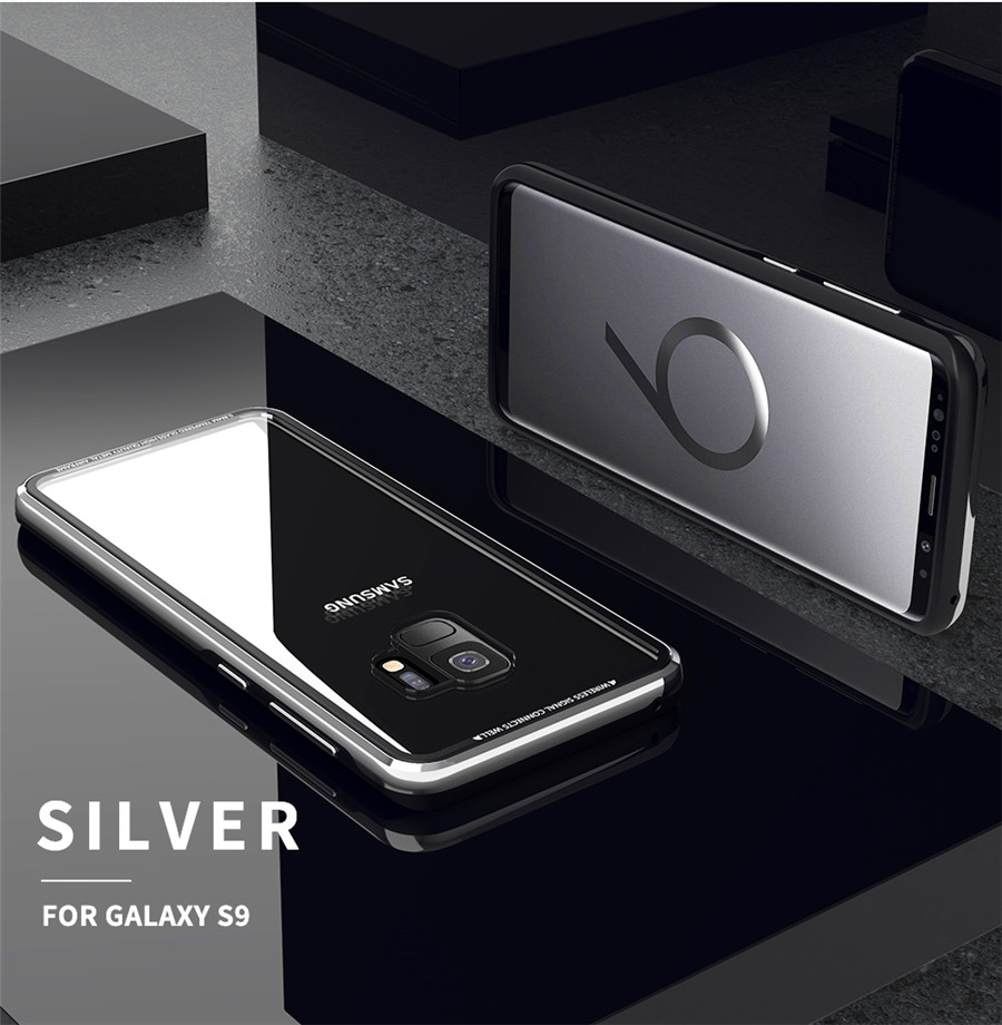 Luxury Aluminum Phone Cases For Samsung galaxy s9 Original R-just Hardness Tempered Glass Cover Case S9 Plus S9+ Accessories (15)