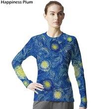 6c0c083f76 Galaxy Shirt Space Van Gogh Starry Night Shirt Long Sleeve 3d Print Tshirt  Cool Brand Clothing