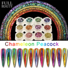 0.2g Peacock Holographic Chameleon Nail Sequins Colorful Laser Glitter Powder Dust Nail Art Decorations Pigment CHQC01-12