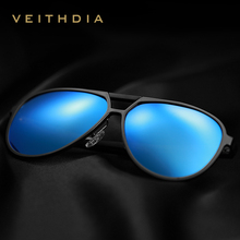 VEITHDIA Brand Mens Aluminum Magnesium Sunglasses Polarized UV400 Lens Eyewear Accessories Male Sun Glasses For Men/Women V6850