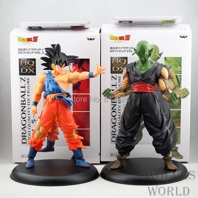 2pcs/set Dragon Ball Z  Goku Piccolo Action Figure PVC Collection figures toys for christmas gift brinquedos with Retail box iron man action figure mini egg attack light 6pcs set action figures pvc brinquedos collection figures toys for christmas gift