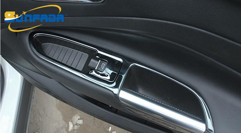 Sunfada 4 Stks Set Rvs Auto Onderdelen Binnenkant Armsteun Decoratie
